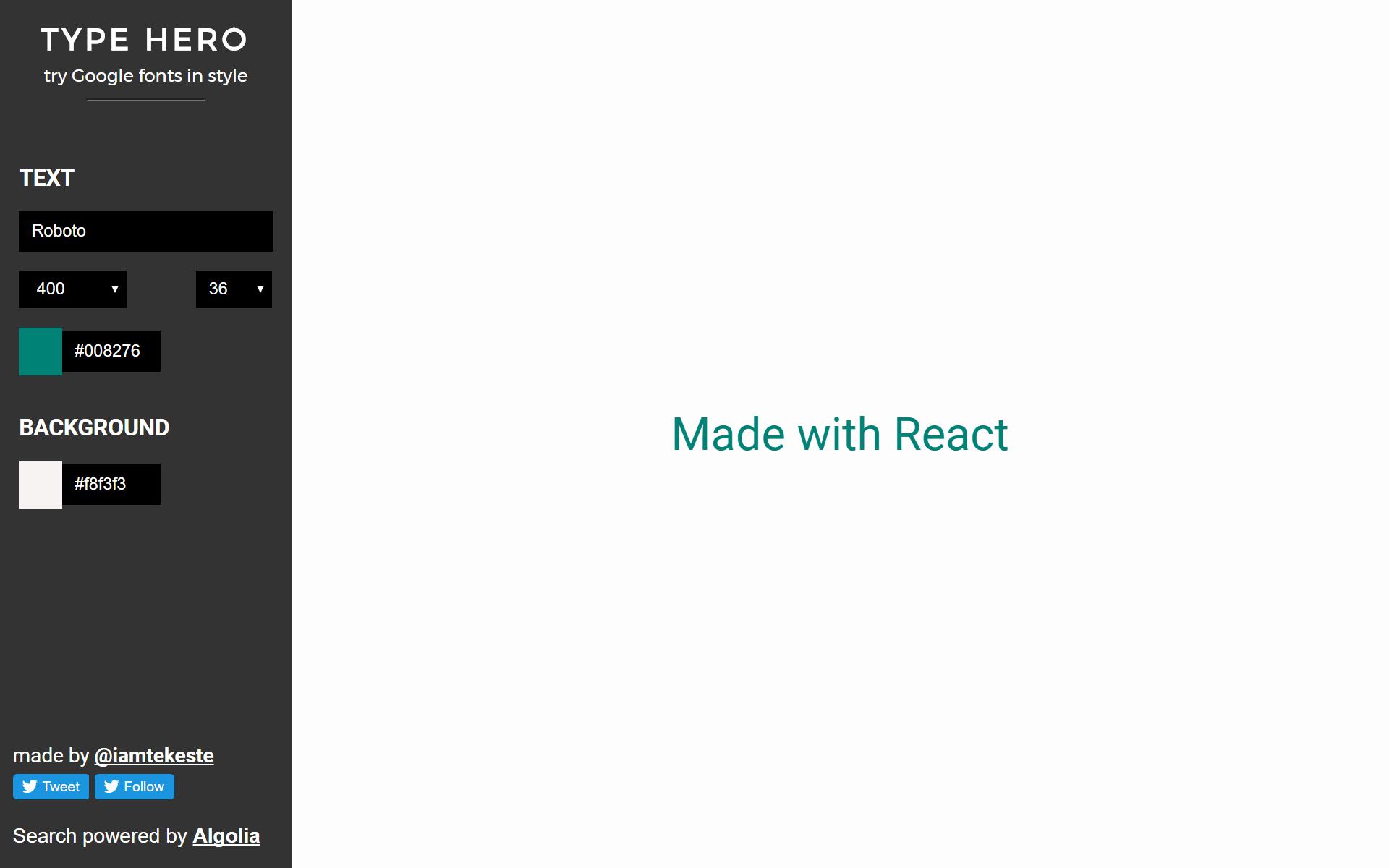 Type Hero - React
