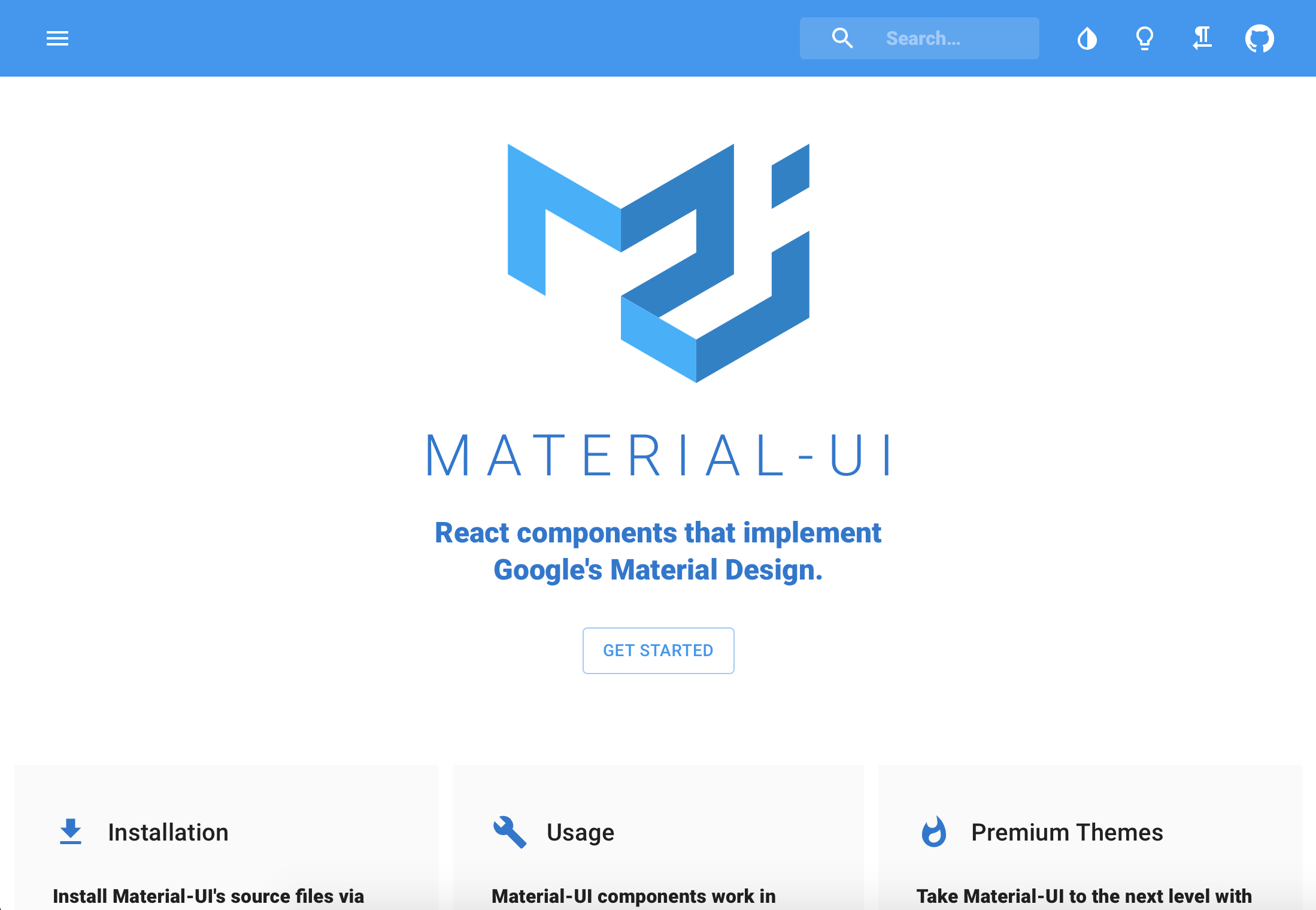 Material-UI - React Components with Material Design - Made with React