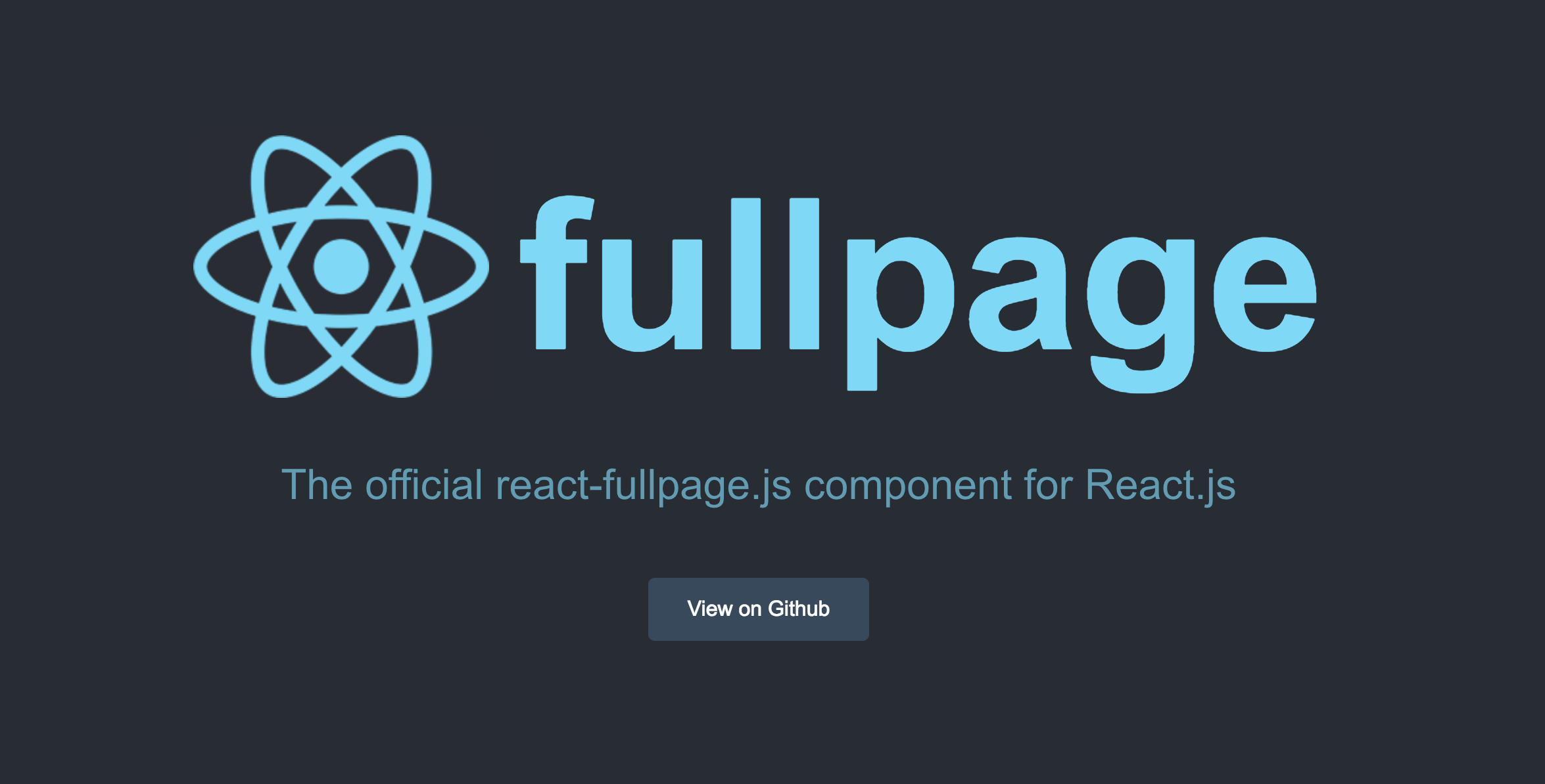 React fullpage - official react-fullpage component - React