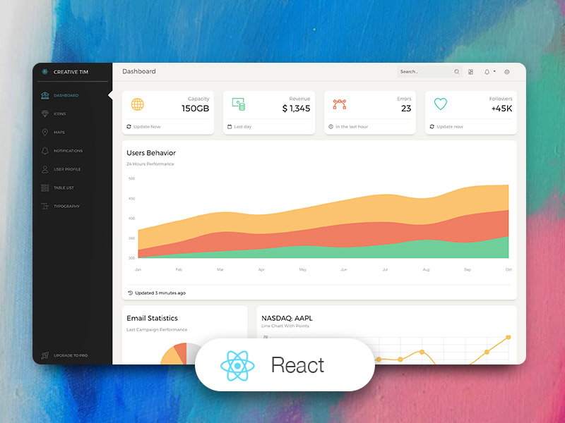 Paper Dashboard React