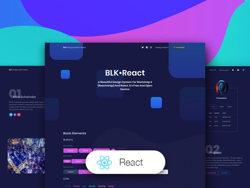 BLK Design System React