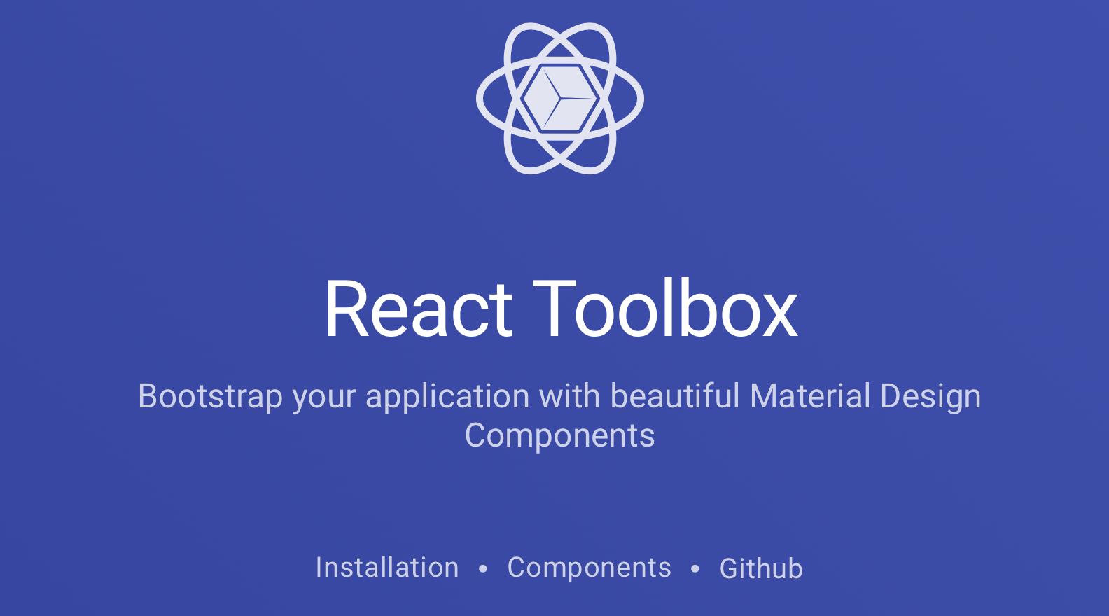 React Toolbox - React